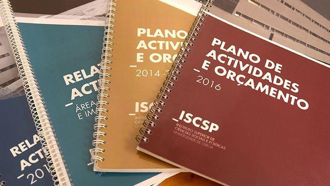 Planos Relatórios de Atividades - ISCSP-ULisboa