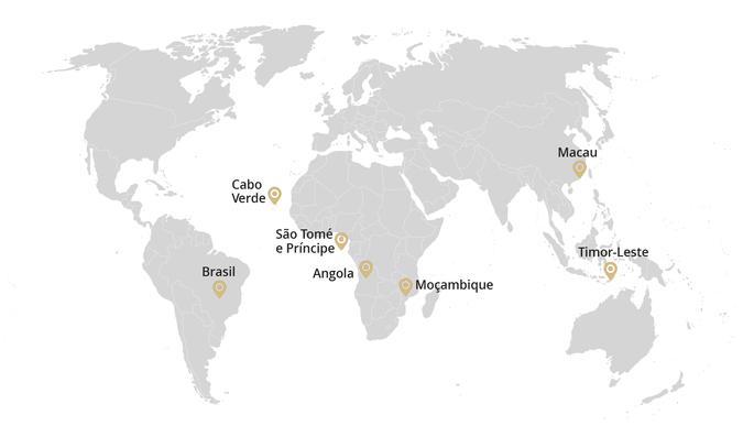 Mapa da Internacionalização do ISCSP no Espaço da CPLP