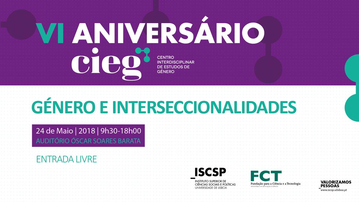 """Centro Interdisciplinar de Estudos de Género celebra VI Aniversário com conferência """"Género e Interseccionalidades"""""""