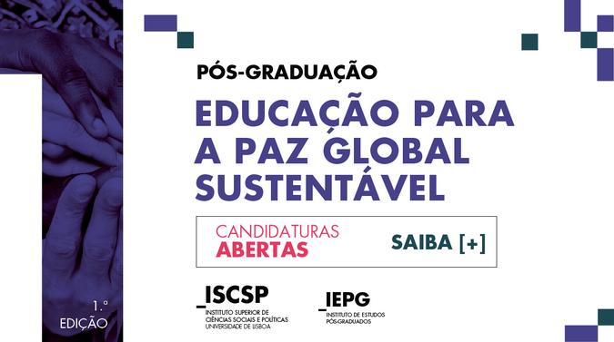 ISCSP-ULisboa lança Pós-Graduação em Educação para a Paz reconhecida como Cátedra UNESCO