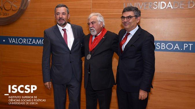 António Cruz Serra, Reitor da Universidade de Lisboa, também marcou presença na cerimónia.