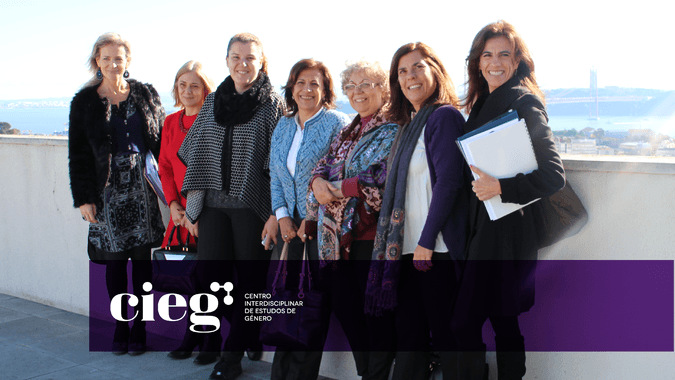 Direção do CIEG-ISCSP: Maria João Cunha, Helena Sant´Ana, Diana Maciel, A