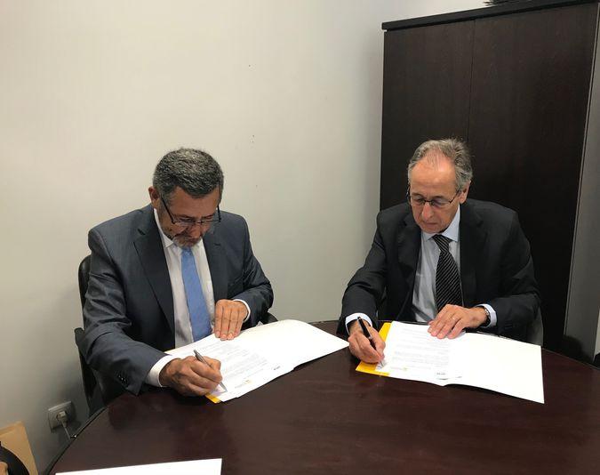 Assinatura do protocolo de cooperação entre o ISCSP-ULisboa e o Instituto Politécnico de Portalegre (imagens cedidas pelo IPP).