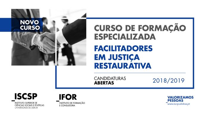 Curso de Formação Especializada de Facilitadores em Justiça Restaurativa