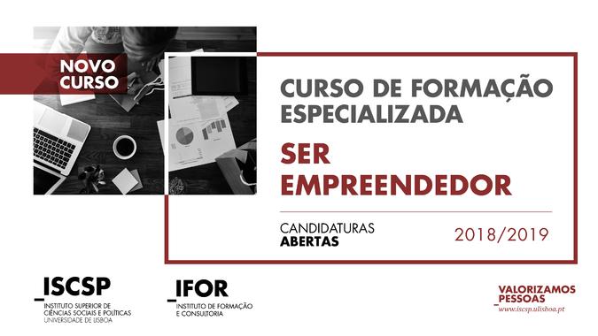 """Curso de Formação Especializada """"Ser Empreendedor"""""""