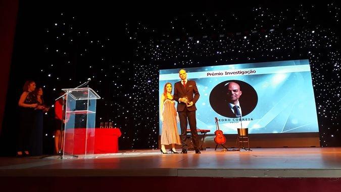 Pedro Correia recebeu o Prémio RH de Investigação 2018 no dia 20 de novembro, no Teatro Politeama. / Fotografias cedidas por Pedro Correia.