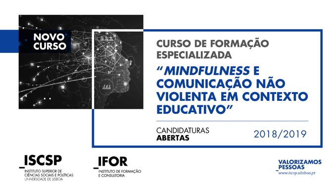"""Curso de Formação Especializada """"Mindfulness e Comunicação Não Violenta em Contexto Educativo"""""""
