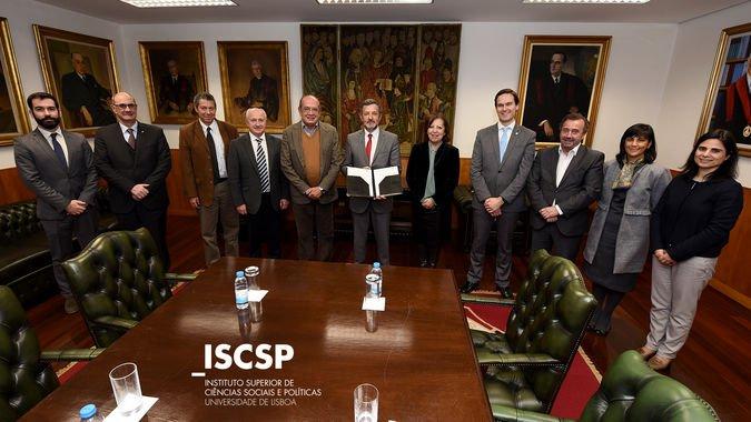 Gilmar Mendes, atual ministro do Supremo Tribunal Federal do Brasil, em visita ao ISCSP-ULisboa.