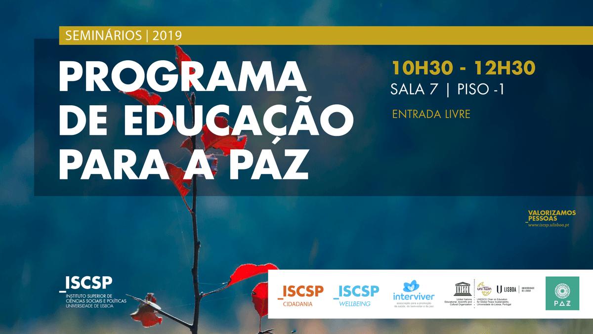 4.ª edição do Programa de Educação para a Paz no ISCSP-ULisboa
