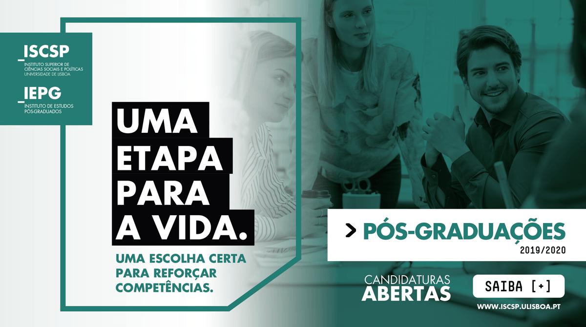ISCSP-ULisboa abre candidaturas para as Pós-Graduações 2019/2020
