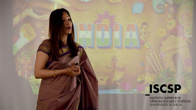 K. Nandini Singla, Embaixadora da União Indiana, em visita ao ISCSP-ULisboa.