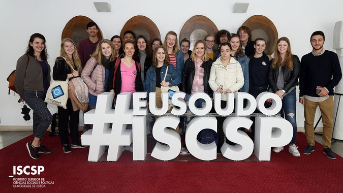 Estudantes da Utrecht University visitam ISCSP-ULisboa