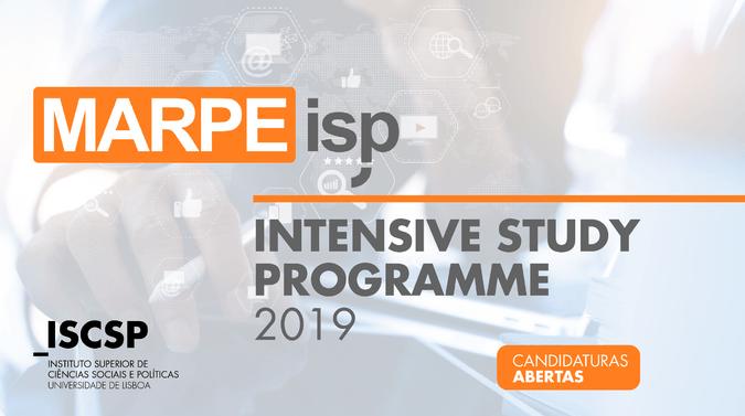 Estão abertas as candidaturas ao MARPE ISP – Intensive Study Programme 2019