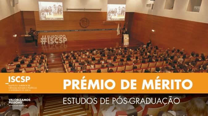 """Conheça o Prémio de Mérito """"Estudos de Pós-Graduação"""" atribuído pelo ISCSP-ULisboa"""