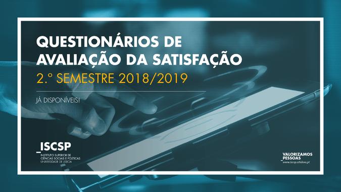 Questionários de Avaliação da Qualidade do 2.º semestre do ISCSP-ULisboa