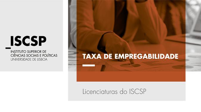 Licenciaturas do ISCSP-ULisboa com taxa de desemprego abaixo da média nacional