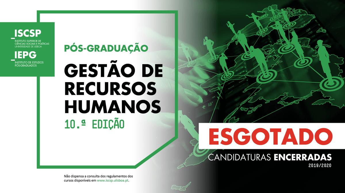 Pós-Graduação em Gestão de Recursos Humanos do ISCSP - Candidaturas encerradas