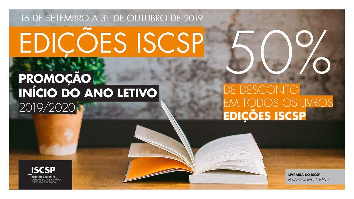 Edições ISCSP com 50% de desconto