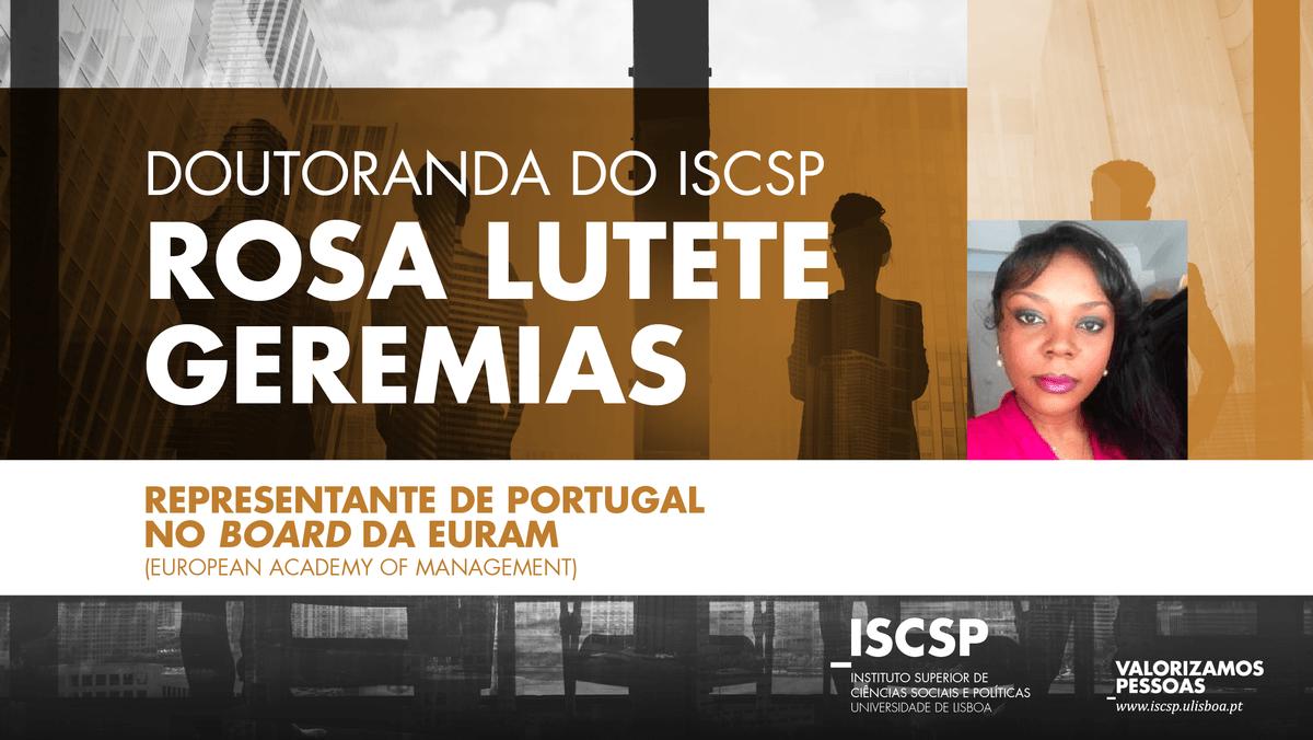 Doutoranda do ISCSP representa Portugal no Board da European Academy of Management