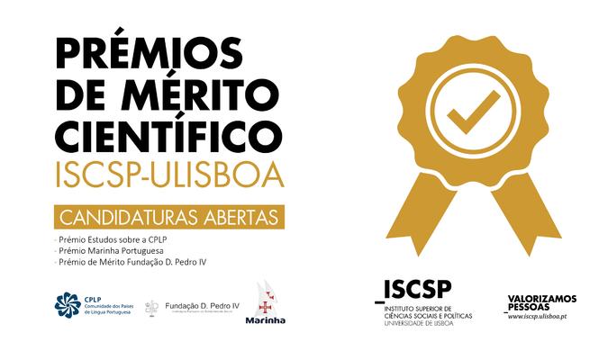 Candidaturas abertas para os Prémios de Mérito Científico, edição de 2019.
