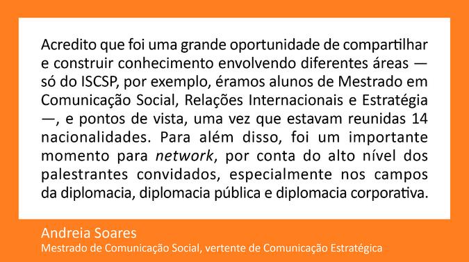 Testemunho de Andreia Soares, Mestrado de Comunicação Social,  vertente de Comunicação Estratégica-02