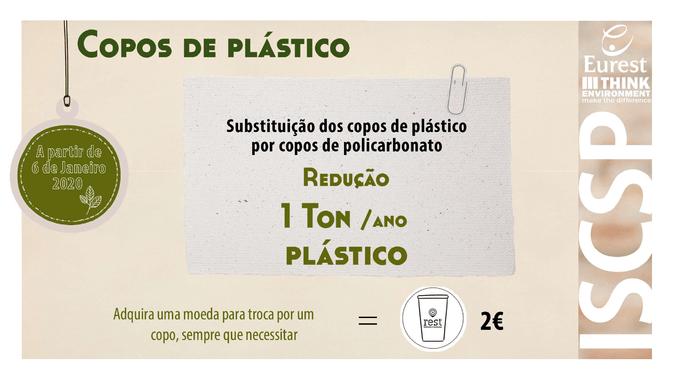 "ISCSP-ULisboa arranca 2020 com nova campanha do Programa ""ISCSP sem Plástico""."