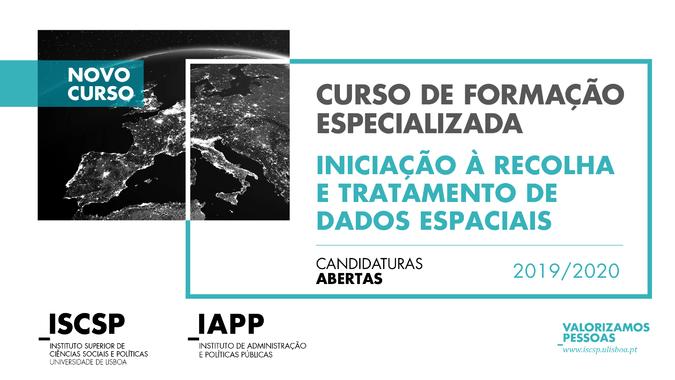"""Curso de Formação Especializada """"Iniciação à Recolha e Tratamento de Dados Espaciais"""""""