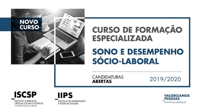 """As candidaturas ao Curso de Formação Especializada """"Sono e Desempenho Sócio-Laboral"""" do ISCSP estão abertas até ao dia 1 de março de 2020."""