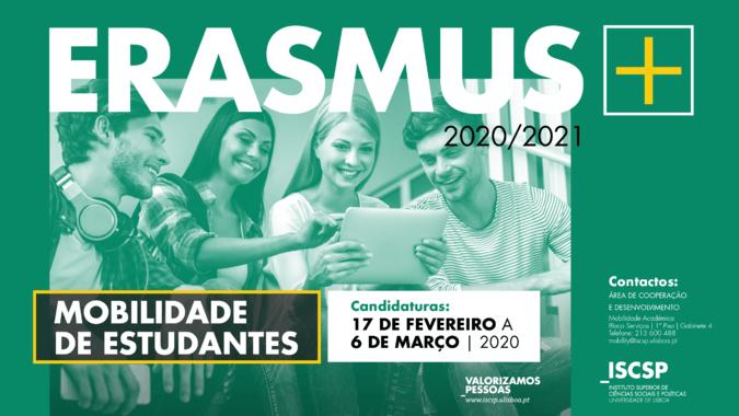 Candidaturas ao Programa Erasmus+ 2020/2021