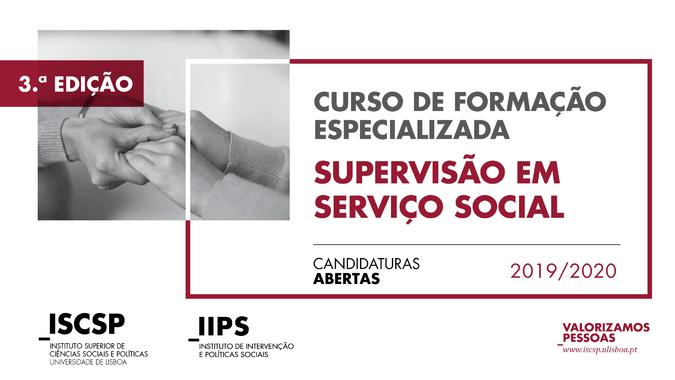 """3.ª edição do Curso de Formação Especializada """"Supervisão em Serviço Social"""""""