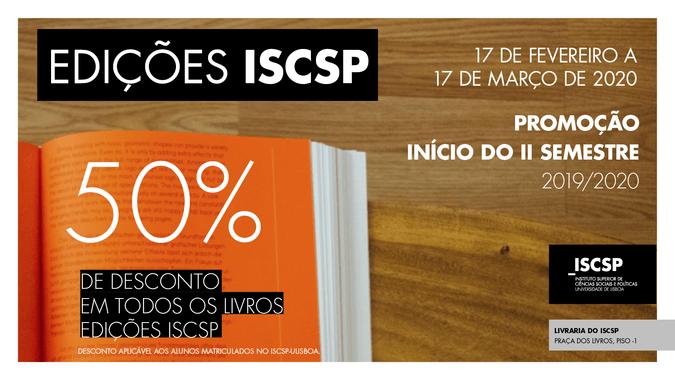 Campanha especial de início do 2.º semestre: Edições ISCSP com 50% de desconto