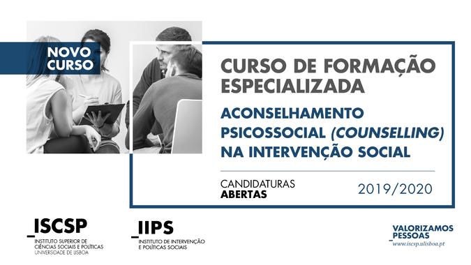 """Curso de Formação Especializada """"Aconselhamento Psicossocial (Counselling) na Intervenção Social"""""""