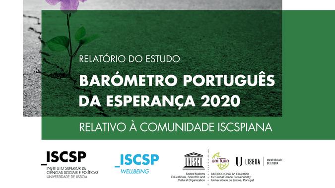 """Conheça os resultados do Estudo """"Barómetro Português da Esperança 2020 relativo à Comunidade ISCSPiana"""""""