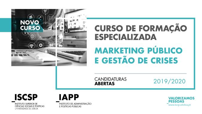 """As candidaturas ao Curso de Formação Especializada """"Marketing Público e Gestão de Crises"""" estão abertas até ao dia 20 de março."""