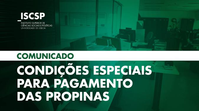 ISCSP-ULisboa anuncia condições especiais para pagamento das propinas