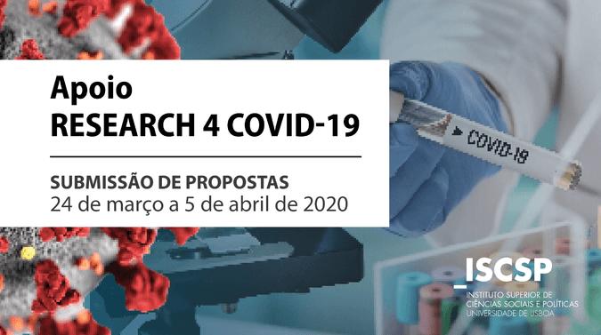 """FCT cria apoio """"RESEARCH 4 COVID-19"""""""