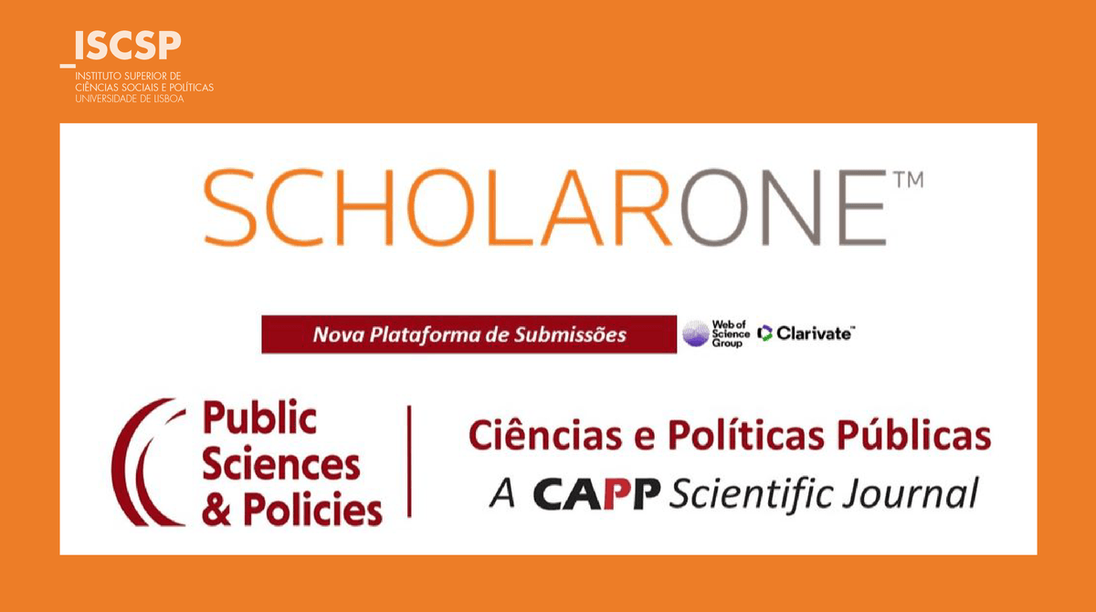 Revista do CAPP com Plataforma ScholarOne Manuscripts