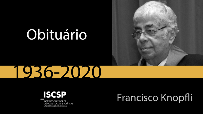 Falecimento de Francico Knopfli, membro do Conselho de Honra do ISCSP