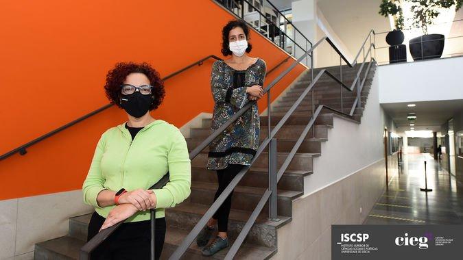 Lia Gil Antunes (em cima) e Patrícia Santos Pedrosa (em baixo) são investigadoras do projeto W@ARCH.pt do CIEG-ISCSP.