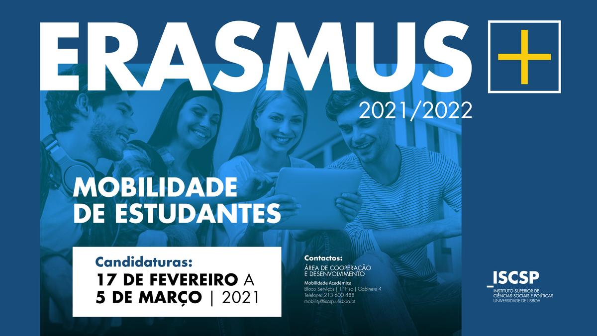 Candidaturas ao Programa Erasmus + 2021/2022