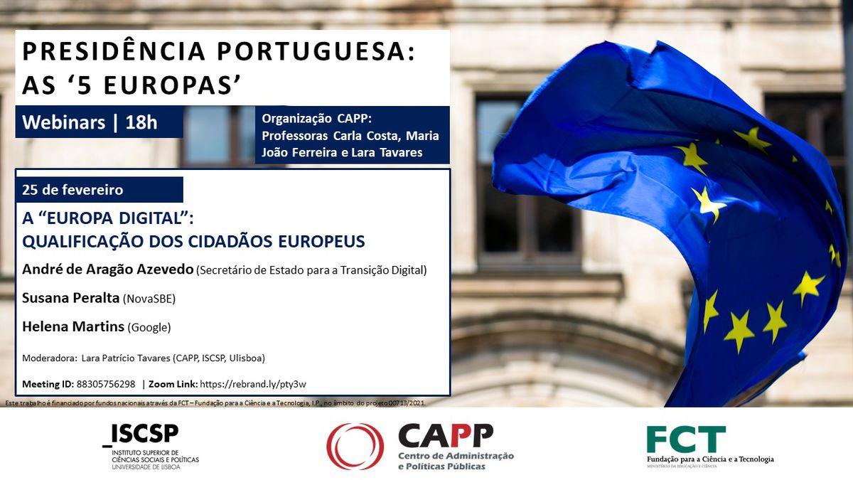 """CAPP debate """"A 'Europa Digital': Qualificação dos Cidadãos Eu"""