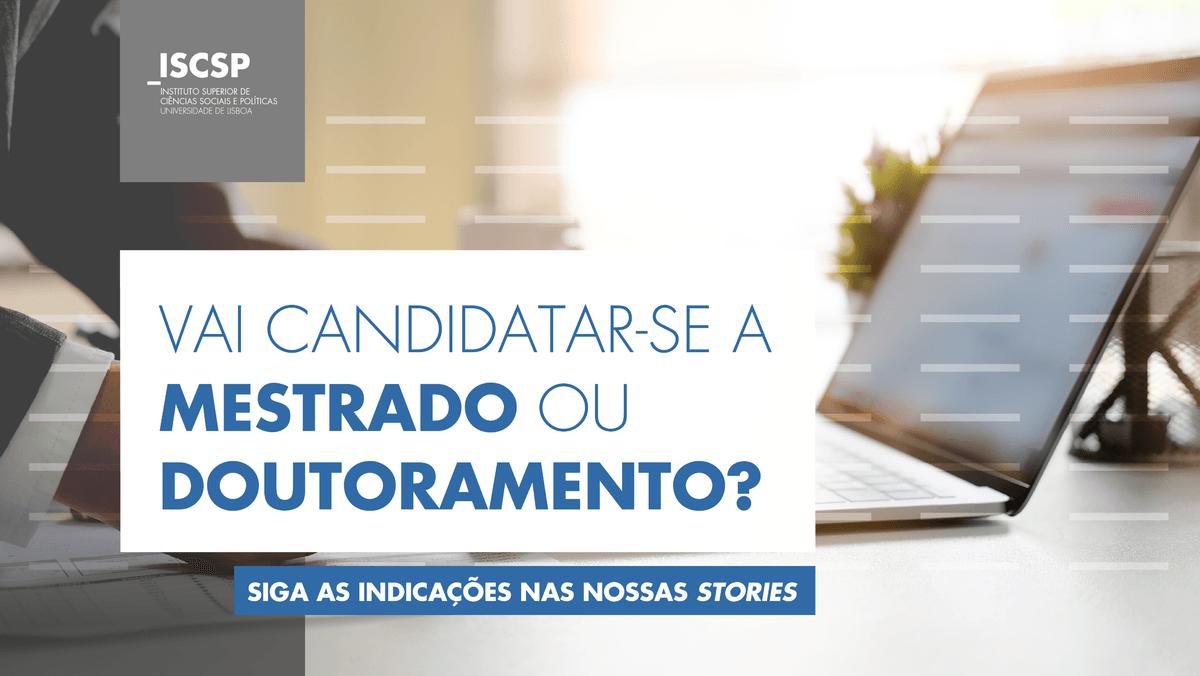 Candidaturas através da plataforma FenixEdu