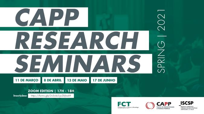 """""""CAPP Research Seminars"""" está de volta com edição de Primavera"""