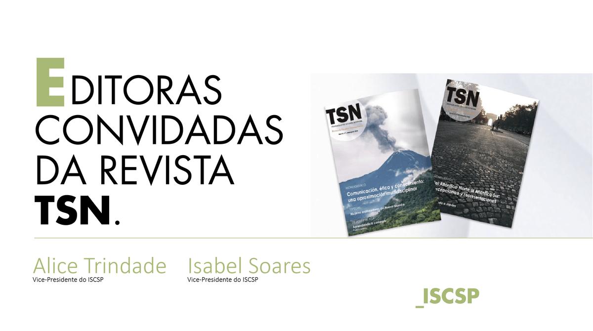 Professoras do ISCSP participam como editoras convidadas em revista internacional