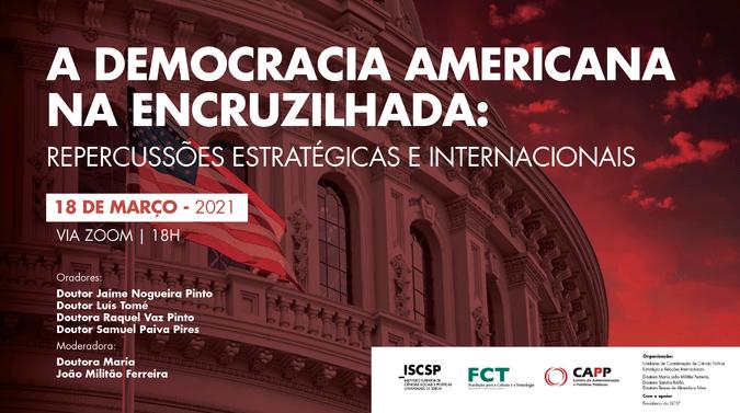 """Política externa norte-americana em debate na conferência  """"A Democracia Americana na Encruzilhada: Repercussões Estratégicas e Internacionais"""""""