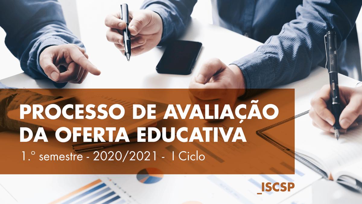 Síntese de Avaliação da Oferta Educativa 1.º semestre 2020/2021 - I Ciclo