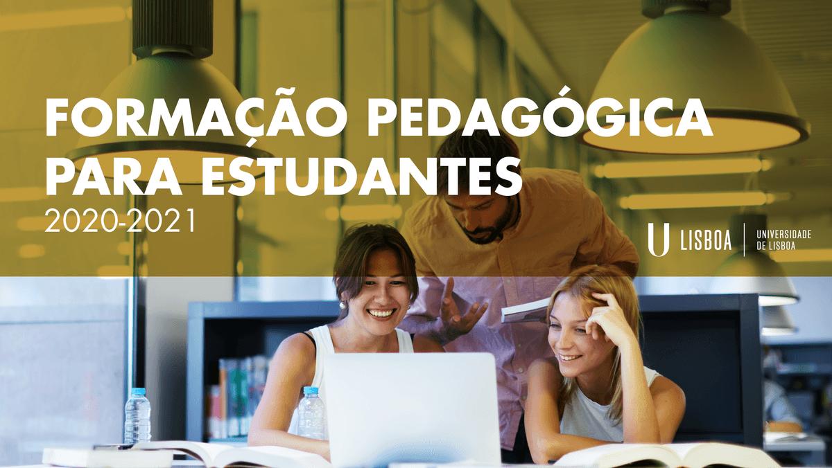 Formação Pedagógica para Estudantes 2020-2021