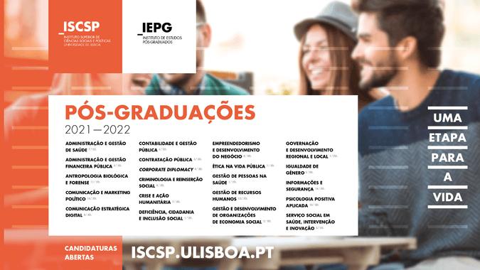 Pós-graduações ISCSP 2021-2022