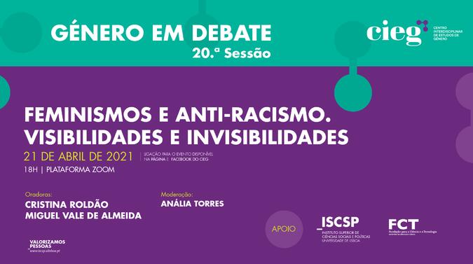 Feminismos e anti-racismo em debate na próxima sessão do Ciclo Género em Debate