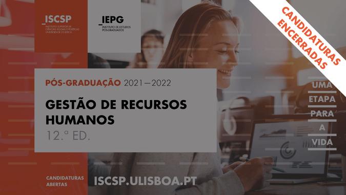 Pós-graduação em Gestão de Recursos Humanos do ISCSP com candidaturas en